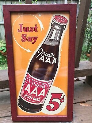 "Vintage  Triple ""AAA"" ROOT BEER 5c Advertising Paper"