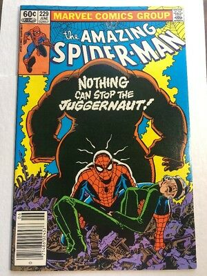 Amazing Spider-Man 229 VF+ 8.5 Classic Juggernaut Story And Cover! Marvel
