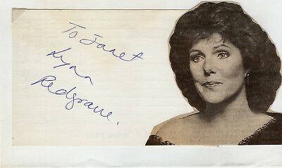 Lynn Redgrave Actress Signed Autographed Index Card, dated 1967, Melchior