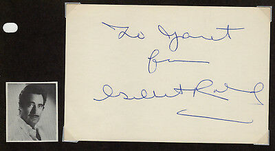 Gilbert Roland Actor Signed Autographed Card 1962 from the Melchior Collection