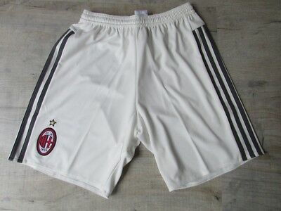 adidas AC Milan Football Shorts Off White and Grey Brand New with Tags Size XS