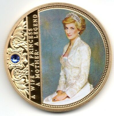 Diana Gold Coin Princess Gem Autograph Harry Meghan Royal Wedding Windsors Royal