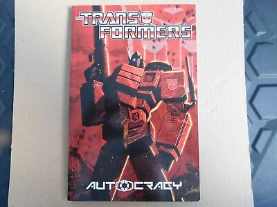 THE TRANSFORMERS. AUTOCRACY. 1:1st,  TPB 2012 FIRST PRINTING. NEAR MINT