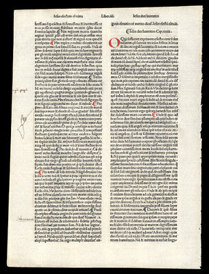 1485 Incunable Leaf  Meditation Passion of Our Lord Hand-Colored Letters