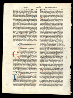 533 Year Old  Incunable Leaf  Meditation on THe Passion of Our Lord