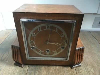 antique bentima westminster chime art deco mantel clock