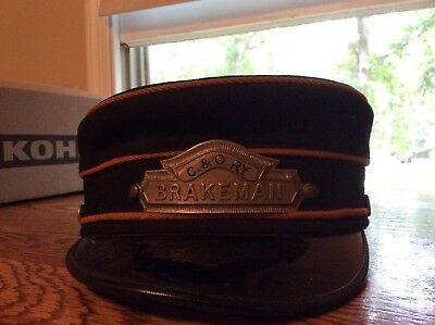 Antique C&O Brakeman wool hat excellent condition