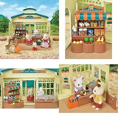 Toy House Sylvanian Families Grocery Town Shop Market Playset And Accessories