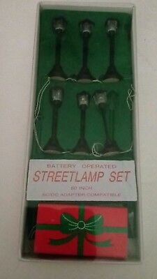 Department 56 Battery Operated 6 Street Lamp Set