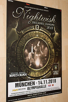 Nightwish Tourplakat/Tourposter 2018 -  Olympiahalle München - NEU