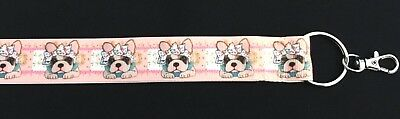 FRENCH BULLDOG FRENCHIE Lanyard Strap Badge ID Running Cell Holder Key Chains