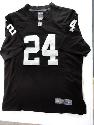 """NIKE NFL Players Oakland Raiders Woodson Jersey XL DW Field Chest 50"""""""