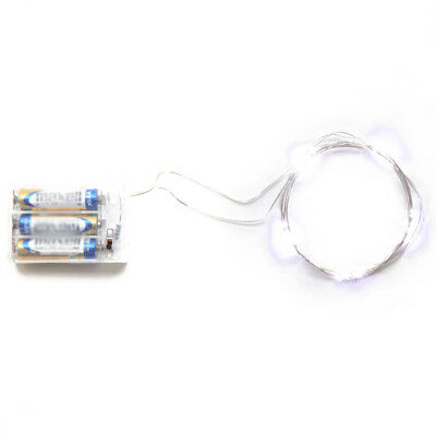 1X(Micro LED 20 Super Bright White Color Lights Battery Operated on 7.5 Ft E3M1