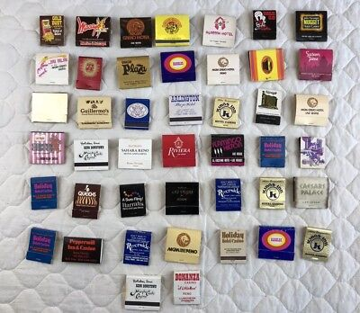 Lot Of Vintage Matchbooks From Las Vegas And Reno 44 Pieces