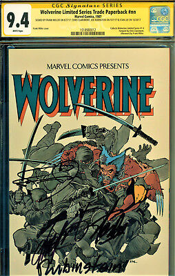 Wolverine Limited Series Tpb Cgc 9.4 4X Signed By Stan Lee Collects #1-4