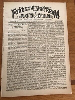 Sporting - Forest And Stream  Magazine Feb. 11,1878
