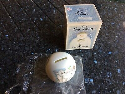"""Royal Doulton - The Snowman """"SNOWBALL MONEY BOX"""" - excellent condition and boxed"""