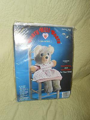 New Vintage 1984 Beary Hill Bears *Raspberry Mama Bear* Plush Toy & Puppet Kit
