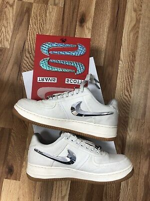 Nike Air Force 1 Low Travis Scott Sail Cactus Jack Men's Size 9.5 AQ4211-101Used
