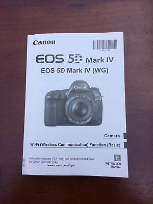 Canon EOS 5D Mark IV Genuine Instruction Owners Manual Book Original NEW with CD