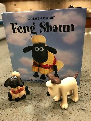 3 Items: Feng Shaun : Discover Inner Peace with Shaun the Sheep & Figurines