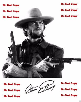 Clint Eastwood Outlaw Josey Wales 8X10 B&W PHOTO PIC Man Cave MOVIE STAR SIGN