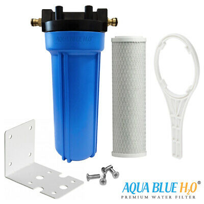 Single Caravan Water Filter System - Brass Hose Connection Fitting