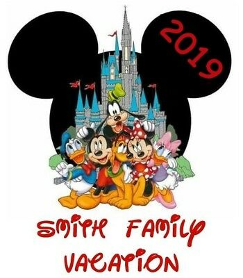 Personalized Disney Vacation Mickey Minnie Vacation**2019 Shirt Iron On Transfer