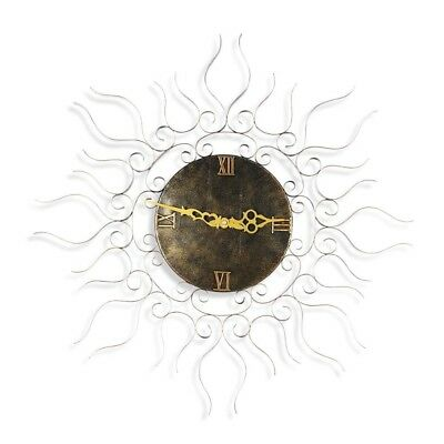 Metal Sun Shaped Wall Clock Hanging Wall Home Decor Vintage Household Handicraft