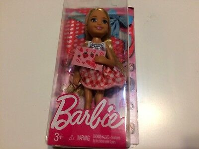 NEW barbie Mattel Valentine Barbie Chelsea Doll Blonde Hair 5.5 inches FREE S/H