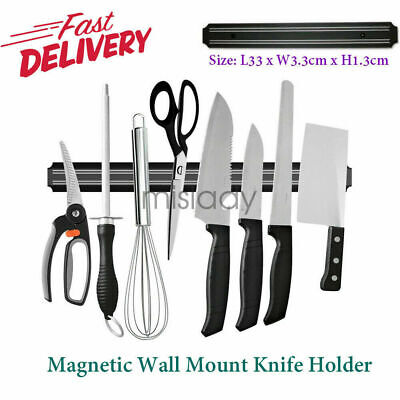 Magnetic Knife Tool Holder Rack Block Kitchen Bar Magnet Strip Organizer Wall US