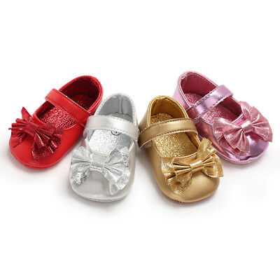 Sneakers Shoes Bowknot Sequins Newborn Toddler Childs Girl Shoes Anti-slip Baby