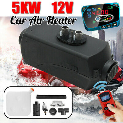 12V 5KW Air Diesel Heater 10L Tank LCD Switch Remote For Trucks Boat Car  new