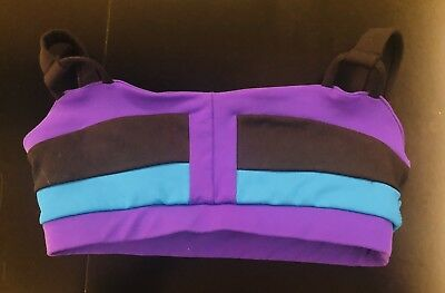 BLACK AND PURPLE JO JAX CROP TOP, CHILD L (12-14) Good used condition GUC