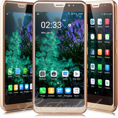 """6.0"""" Gold Android 7.0 Unlocked Smartphone Touch 3G GSM Quad Core 2SIM Cell Phone"""