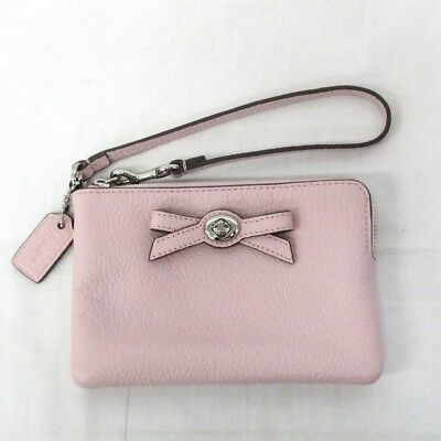 COACH pouch leather pink F65753 bag Free Shipping [used]