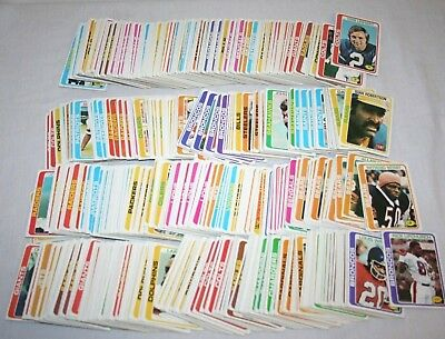 Lot Over 650 1978 Topps Vintage Football Cards Commons Some Duplicates HUGE