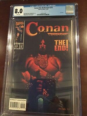 Conan the Barbarian #275 Marvel 1993 CGC 8.0 Last Issue White Pages Direct Ed