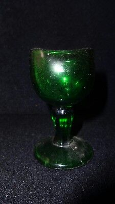 Antique 1917 Green Glass Eye Wash Cup