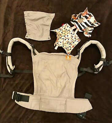 Tula standard ergonomic baby infant carrier Discontinued Cloudy light gray