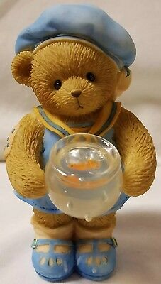 Cherished Teddies Beary Figurine Brittany Friendship Is Golden Gold Fish