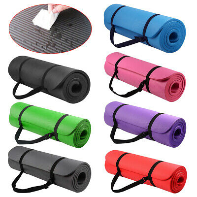 183cm NBR Yoga Mat Extra Thick Pilates Fitness Gym Cushion Non Slip Exercise Pad