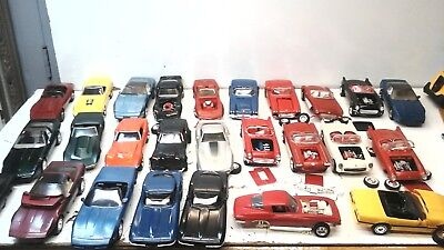 LOT of 26 Vintage Built model corvettes/1950's and up