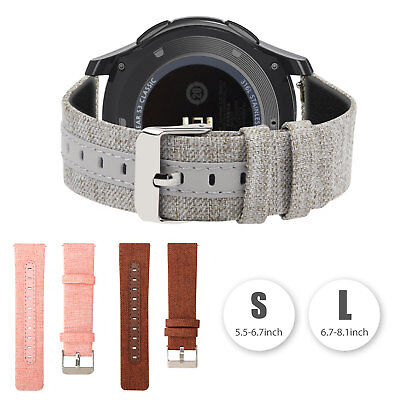 Replacement Woven Canvas Nylon Band Strap Wristband for Samsung Galaxy Watch