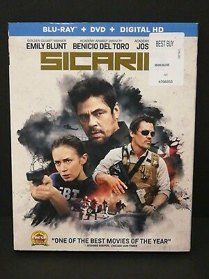 Sicario (Blu-ray/DVD, 2016, 2-Disc Set)No Digital