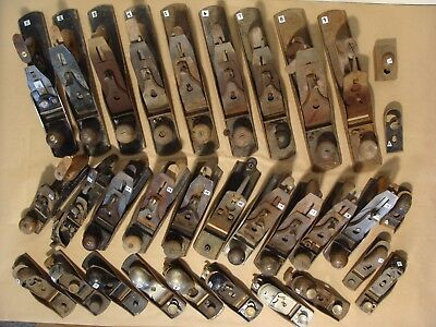 HAND PLANE LOT of 30 VINTAGE OLD STANLEY BAILEY BEDROCK Sweetheart MILLER UNION