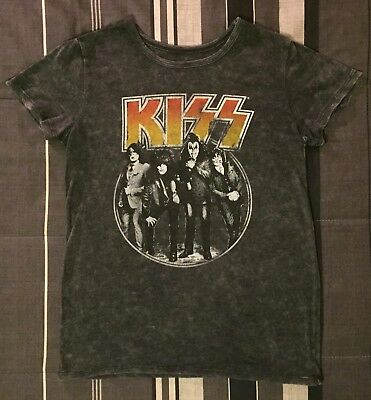 d31c84dc KISS T-shirt Kiss Band Current Line-up Dressed To Kill Mens Black Mens
