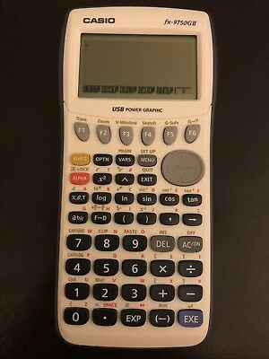 Casio Graphing Calculator White fx-9750GII Math Algebra Geometry School Office