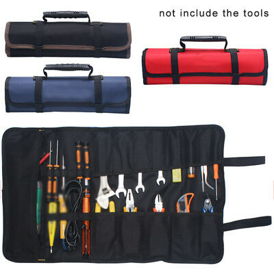 Car Multi-Purpose Reel Rolling Tool Bag Wear Pliers Spanner Carry Case Pouch