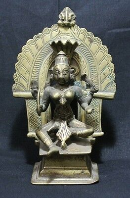 Indian Old Vintage Hand Made Unique Brass Goddess Statue Collectible